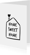 Woonkaarten - Woonkaart huisje home sweet home