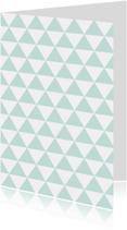 Woonkaart met inkleurbaar driehoekjes patroon