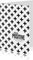 Woonkaarten - Woonkaart Think positive