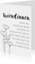 Woonkaarten - Woonkaart: Vriendinnen