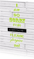 Sorry kaarten - Woorden Please forgive me! - BK