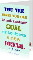 Verjaardagskaarten - You are never too old