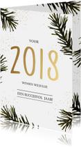 Zakelijke kerstkaarten - Zakelijke kerstkaart 2018 goud