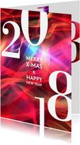 Zakelijke kerstkaarten - Zakelijke kerstkaart 2018 rood