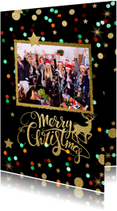 Zakelijke kerstkaarten - Zakelijke Kerstkaart - foto confetti