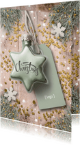 Zakelijke kerstkaarten - Zakelijke Kerstkaart - hout en kerstster