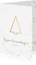 Zakelijke kerstkaarten - Zakelijke kerstkaart kerstboom goud - BK