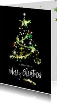 Zakelijke kerstkaarten - Zakelijke kerstkaart kerstboom sterren