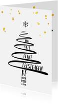 Zakelijke kerstkaarten - Zakelijke kerstkaart met hippe eenvoudige kerstboom