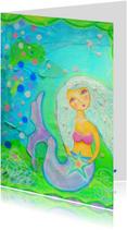 Kunstkaarten - Zeemeerminnetje