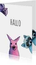 Zomaar kaarten - zomaar-3 x hallo-kk