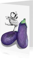 Zomaar kaarten - zomaar-aubergine-kk