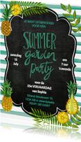 Uitnodigingen - ZOMER verjaardag feest ananas