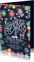 Uitnodigingen - Zomerfeest Tuinfeest Zomer