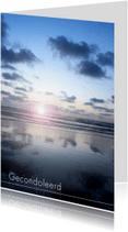 Condoleancekaarten - Zonsondergang aan de kust
