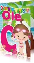 Geslaagd kaarten - Zwemdiploma Ole C Meisje