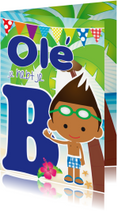 Geslaagd kaarten - Zwemdiploma Ole je B Eros