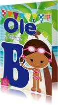 Geslaagd kaarten - Zwemdiploma Ole je B Shante