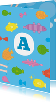 Geslaagd kaarten - Zwemdiploma Visjes