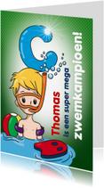 Geslaagd kaarten - zwemkampioen C jongen