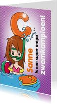 Geslaagd kaarten - Zwemkampioen C meisje