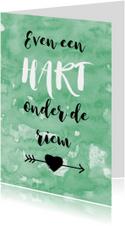 Beterschap hart onder riem
