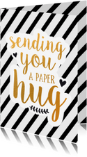 Beterschap - sending you a paper hug