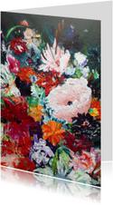 Bloemen kaart v schilderij Rijk