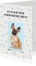 Dierenkaart uitnodiging voor oppas hond