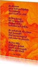 Gedicht Brandend verlangen