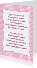 Gedichtenkaart Roze Liefde