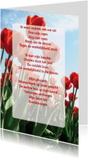 Gedichtenkaart Tulpen Liefde