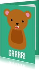 Grrrr Beer Dierenkaart