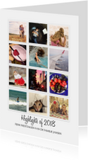Instagram kerstkaart Highlights