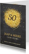 Jubileumkaart goud hartjes av