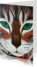 Kat met de groene ogen