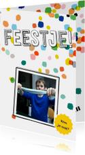 Kinderfeestje confetti eigen foto