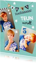 Kinderfeestje fotocollage Teun