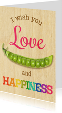 love peas  happiness houtmotief