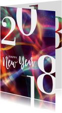 Moderne nieuwjaarskaart 2018 rood