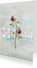 Moederdag kaart rozen voor moeder