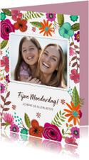 Moederdag met bloemen en foto