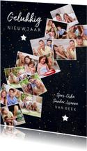 Nieuwjaarskaart met 12 foto's collage van het jaar