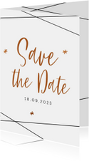 Save the Date kaart  in geometrische stijl