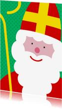 Sinterklaaskaart grote sint