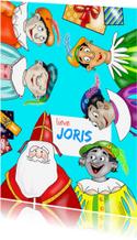Sinterklaaskaart - Pieten en kadootjes kaart