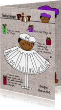 Sinterklaaskaart Pietje knutselen DIY