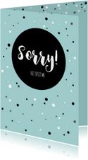 Sorrykaartje-  het spijt me
