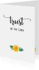 "Sterkte kaart ""Trust in the Lord"""