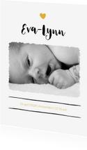 Strak geboortekaartje met foto
